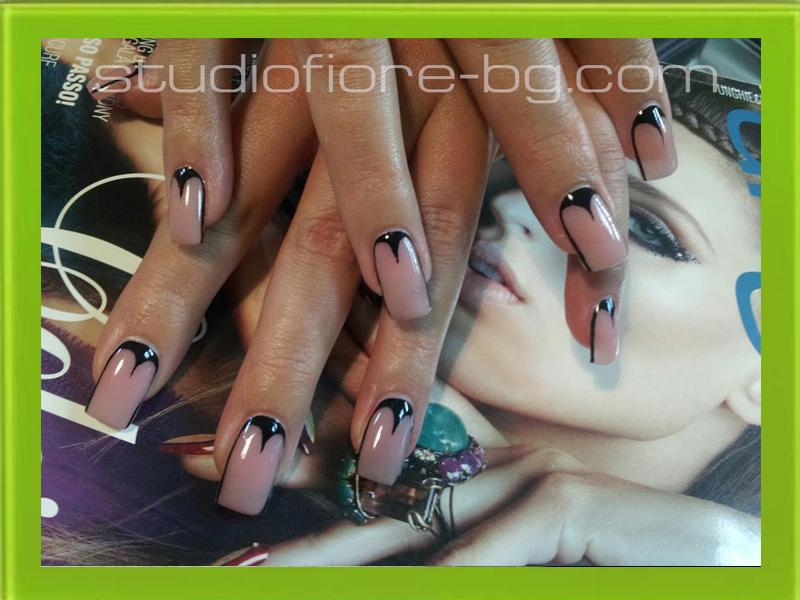 ноктопластика с гел изграждане nail art