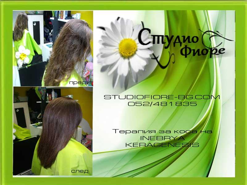 терапия за коса с кератин на INEBRYA KERAGENESIS